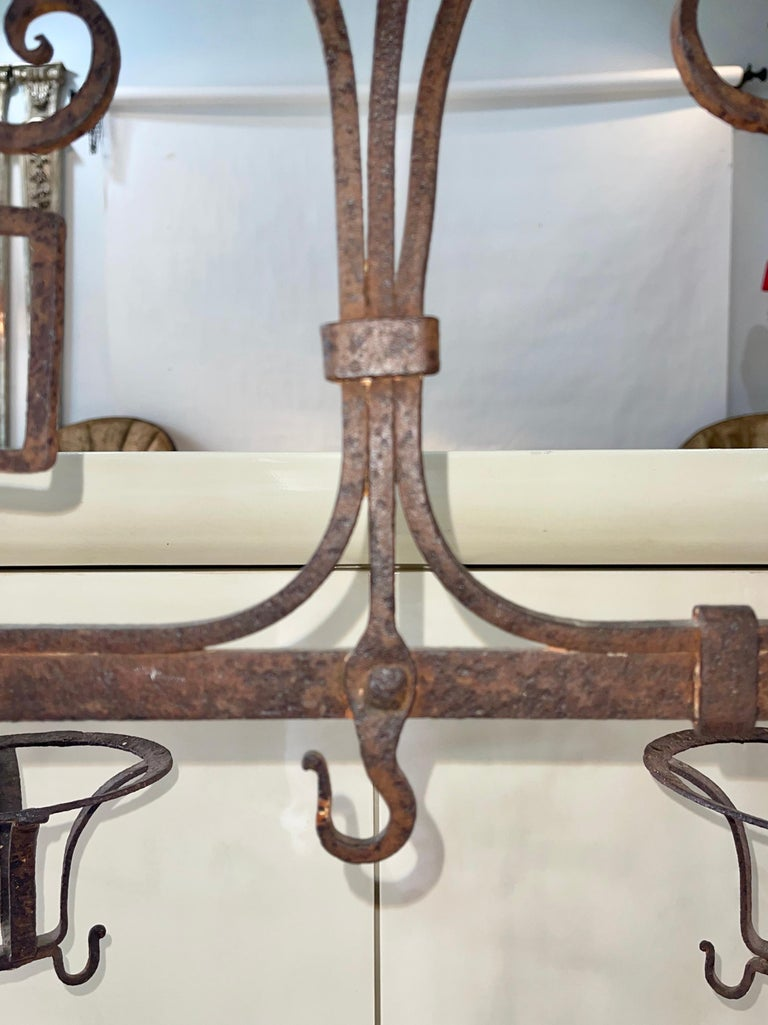 Antique Wrought Iron Fireplace Lanier For Sale 7