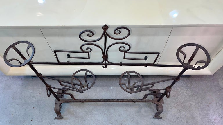 Antique Wrought Iron Fireplace Lanier For Sale 11