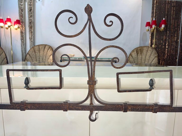 Antique Wrought Iron Fireplace Lanier For Sale 1