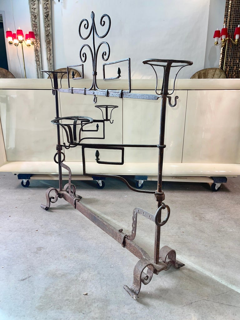 Antique Wrought Iron Fireplace Lanier For Sale 2