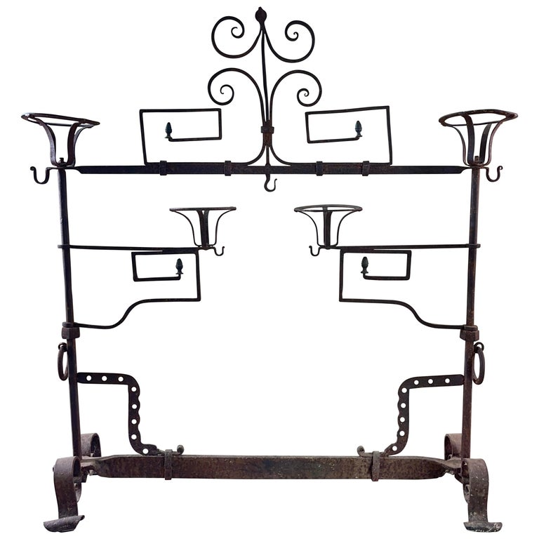 Antique Wrought Iron Fireplace Lanier For Sale