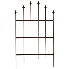 Antique Wrought Iron Fleur di Lys Fence/Gate Panels, 35 Panels Available
