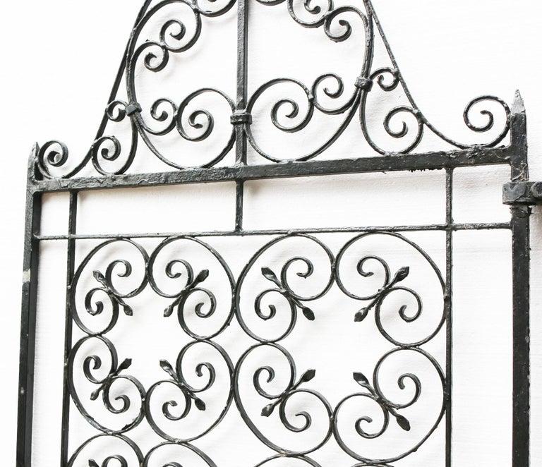 Victorian Antique Wrought Iron Garden Gate For Sale