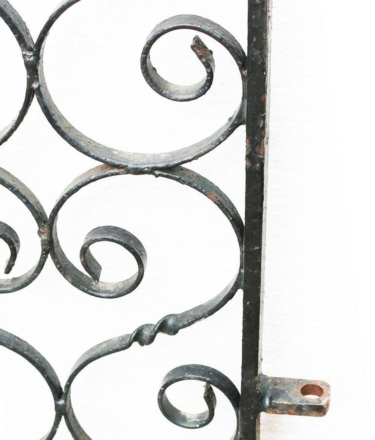English Antique Wrought Iron Garden Gate For Sale