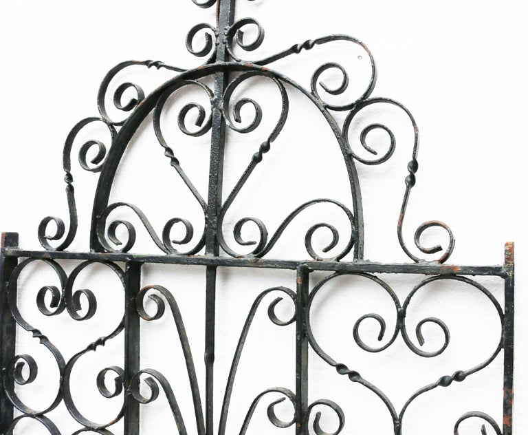 Antique Wrought Iron Garden Gate In Fair Condition In Wormelow, Herefordshire
