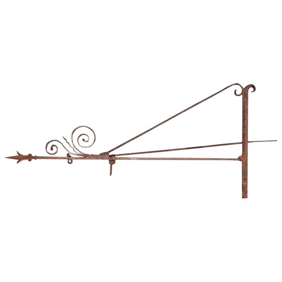 Antique Wrought Iron Signage Bracket