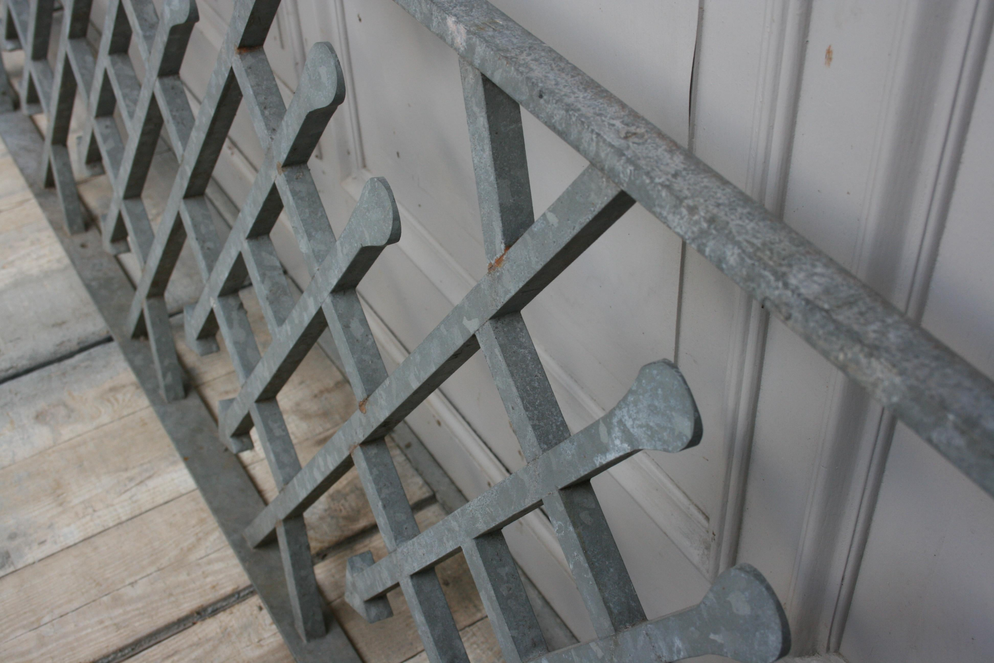 Antique Wrought Iron Stair Railing, Sandblasted And Galvanized