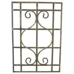 Antique Wrought Iron Window Guard