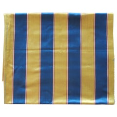 Antique Yellow and Blue Empire Stripes Textile Panel