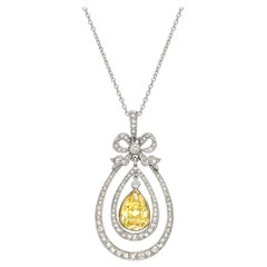 Antique Yellow and White Diamond Pendant