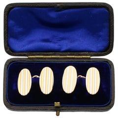 Antique Yellow Gold and Platinum Cufflinks, circa 1910