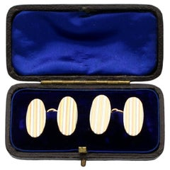 Antique Yellow Gold and Platinum Cufflinks Circa 1910