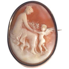 Antique Yellow Gold Cameo Brooch