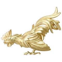 Antique Yellow Gold Cockerel Brooch