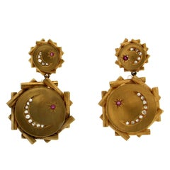 Yellow Gold Diamonds Stud Earrings