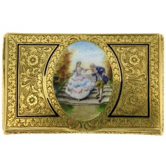 Antique Yellow Gold Enamel Case