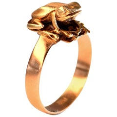 Antique Yellow Gold Frog Animal Ring