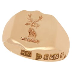 Antique Yellow Gold Gent's Signet Ring
