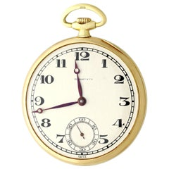 Antique Yellow Gold Open-Face Pocket Watch by Tiffany & Co., 1929