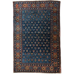 Antique Yerevan Accent Rug with Tribal Style, Antique Russian Armenian Rug