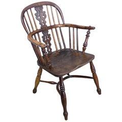 Antiker Windsor-Stuhl aus Eibenholz