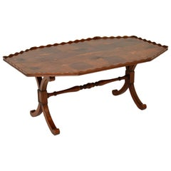 Antique Yew Wood Oyster Veneer Coffee Table