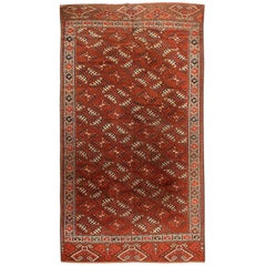 Antique Yomud Oriental Rug. Size: 5 ft 10 in x 10 ft 10 in (1.78 m x 3.3 m)