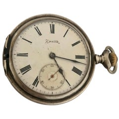 Antique Zenith Silver Pocket Watch