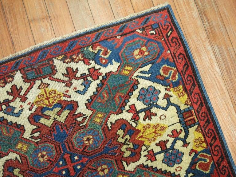 Hand-Knotted Antique Zeychour Caucasian Kuba Rug For Sale