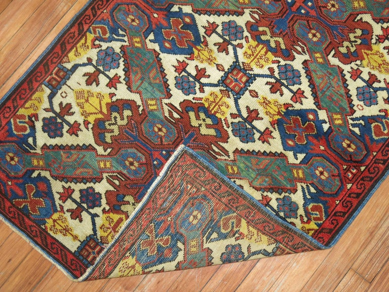 Antique Zeychour Caucasian Kuba Rug In Excellent Condition For Sale In New York, NY