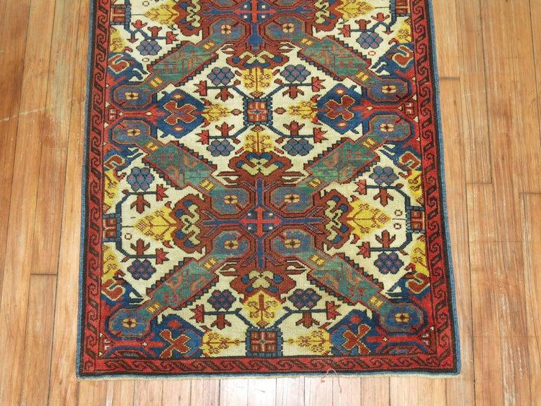 19th Century Antique Zeychour Caucasian Kuba Rug For Sale