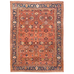 Antique Ziegler Sultanabad Rug, Last Quarter of the 19th Century, Red Ground