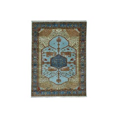 Antiqued Bakshaish Natural Dyes Hand Knotted Oriental Rug