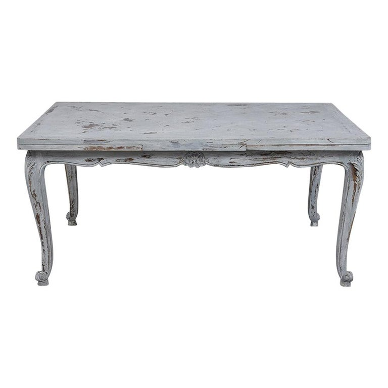 Antiqued French Painted Louis XVI Dining Table For Sale