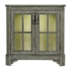 Antiqued Grey Country Low Bookcase