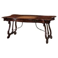 Antiqued Mahogany Writing Table