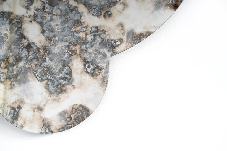 Silver Antiqued Mirror - Leo Mirror by Ben & Aja Blanc For Sale 3