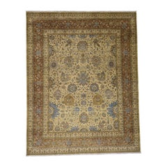Antiqued Tabriz 300 Kpsi Hand Knotted Pure Wool Oriental Rug