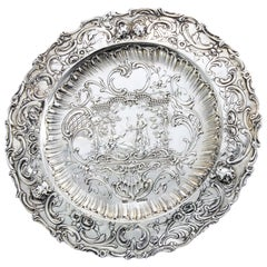 Antiques 930, Continental Sterling Silver Sideboard Dish