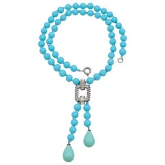 Antiques Art Deco Blue necklace 1930s