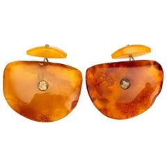Antiques Baltic Amber Cufflinks