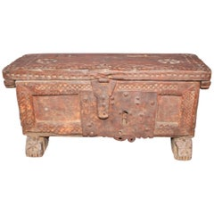 Antiques Small Spanish Trunk