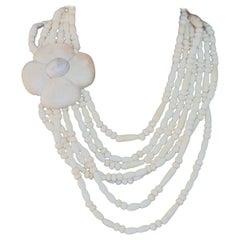 Antiques White Natural Horn Degradè Necklace