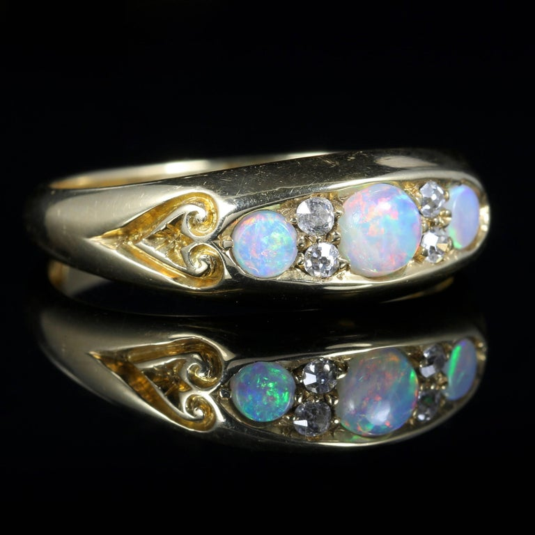 Antique Opal And Diamond Engagement Rings