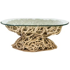 Antler Center Table with Glass Top