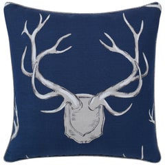 Antler Motif Linen Accent Pillow by CuratedKravet