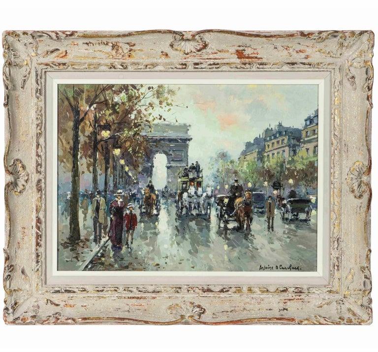 """Beaux Arts Antoine Blanchard """"Arc De Triomphe, Champs-Elysees"""" For Sale"""