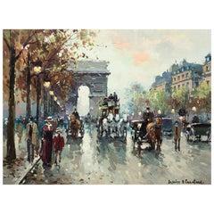 "Antoine Blanchard ""Arc De Triomphe, Champs-Elysees"""