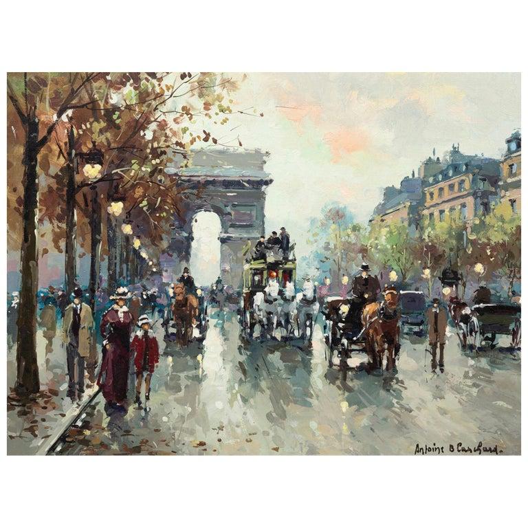 """Antoine Blanchard """"Arc De Triomphe, Champs-Elysees"""" For Sale"""