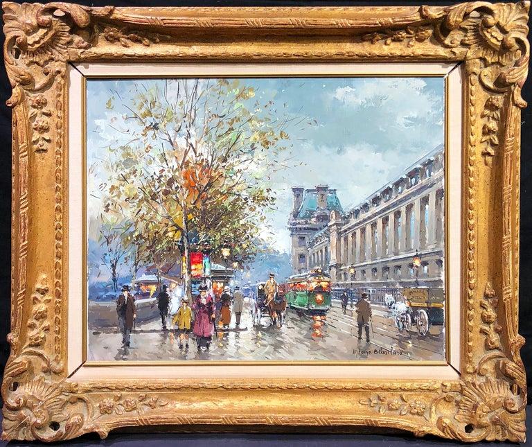 Antoine Blanchard Landscape Painting - Along the Louvre
